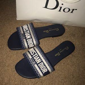 Authentic Christian Dior slides